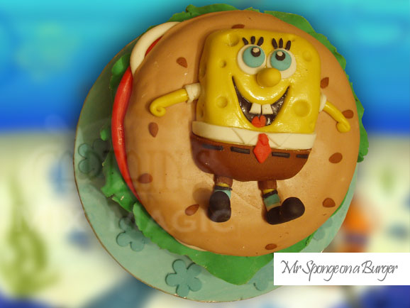 Mr Sponge on a Burger