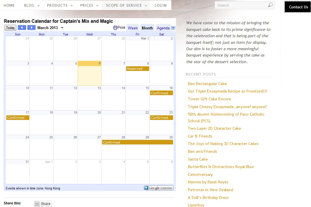 Captain's Calendar Now Online!!!