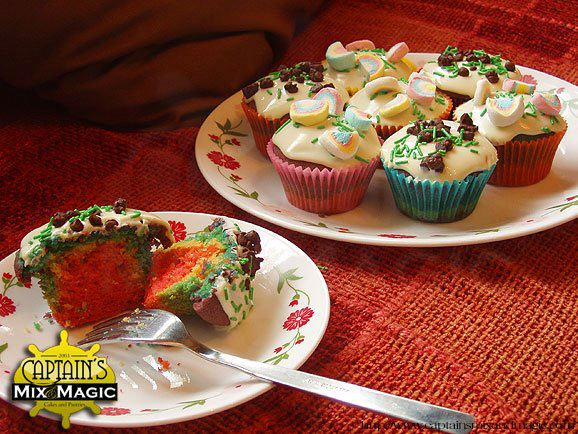 Many Ways to Enjoy Rainbow Cupcakes!!!