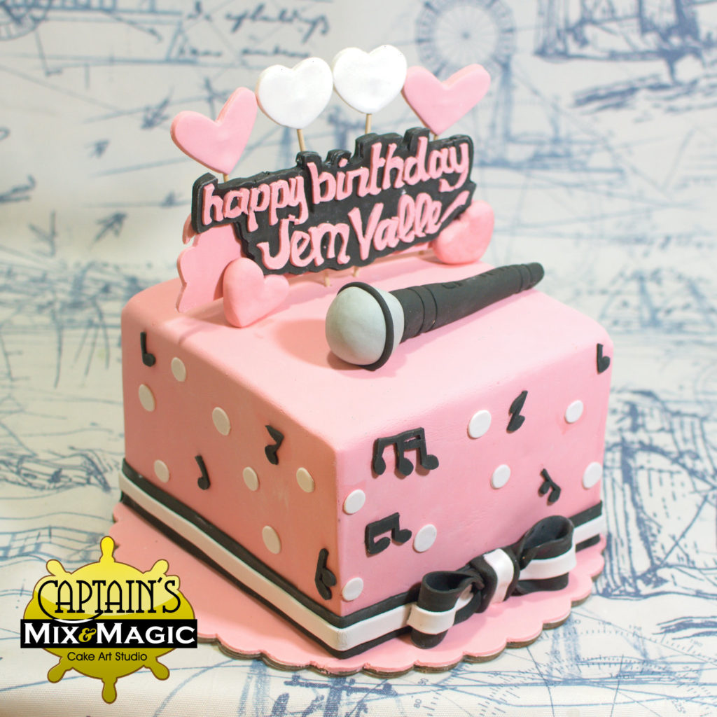 Singer's Heart Birthday Cake