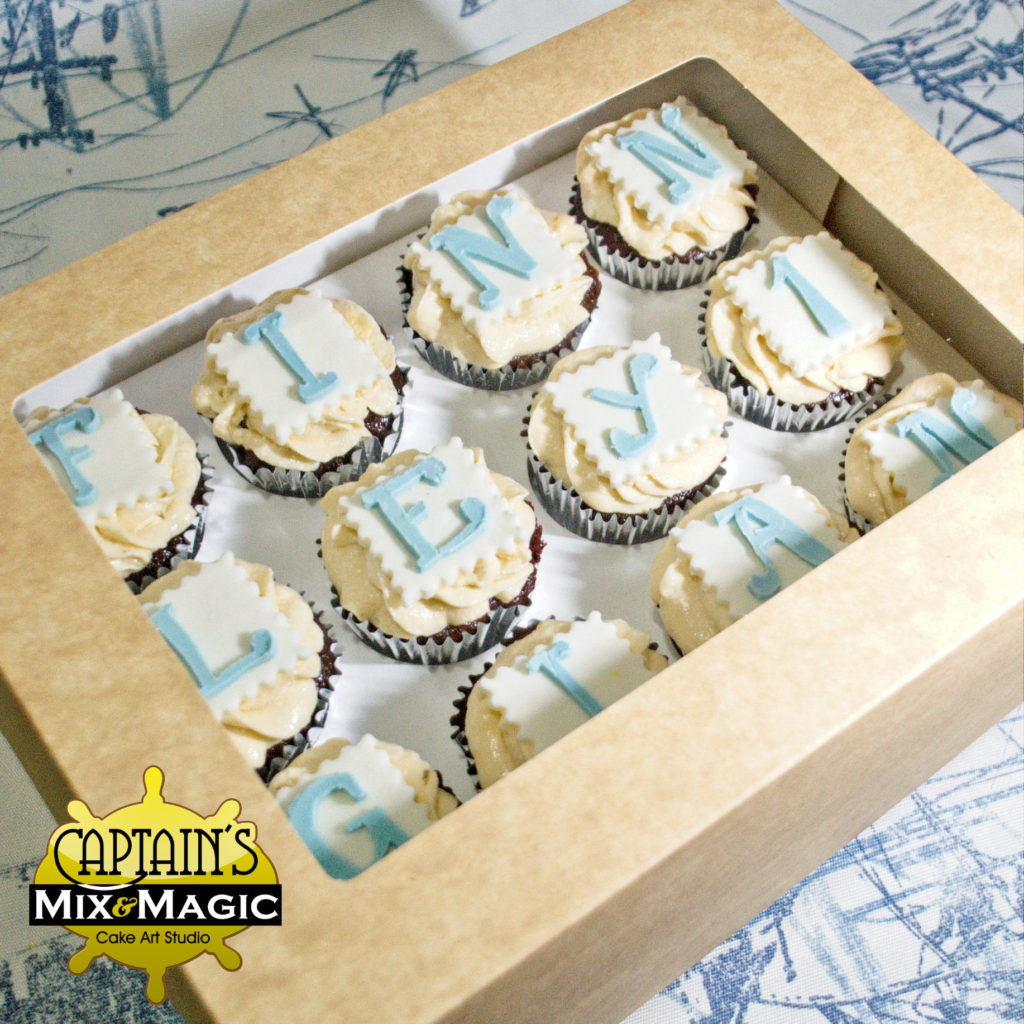 Letter Topped Cupcakes