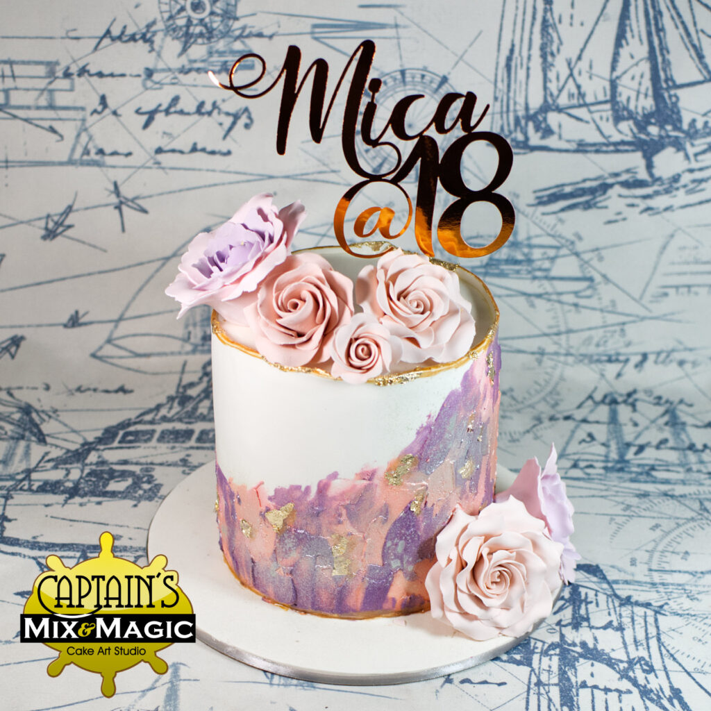 Mica's Palette Painted Floral Cake